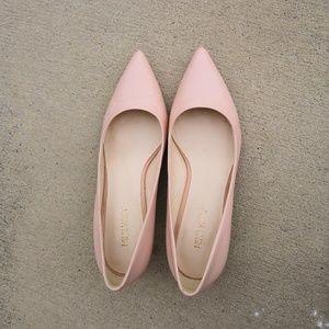 Nine West Blush Leather Kitten Heels